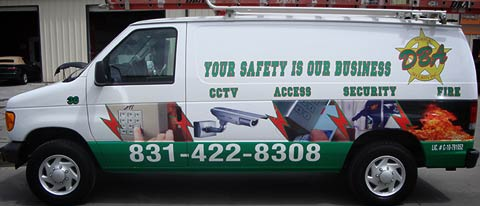 DBA Alarm and Security Van